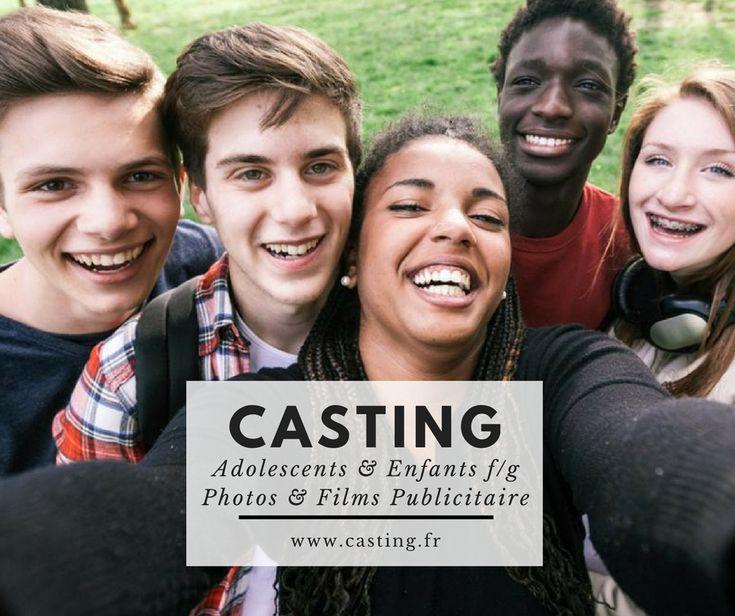 Casting adolescents et enfants f/g pour Films publicitaires et photos