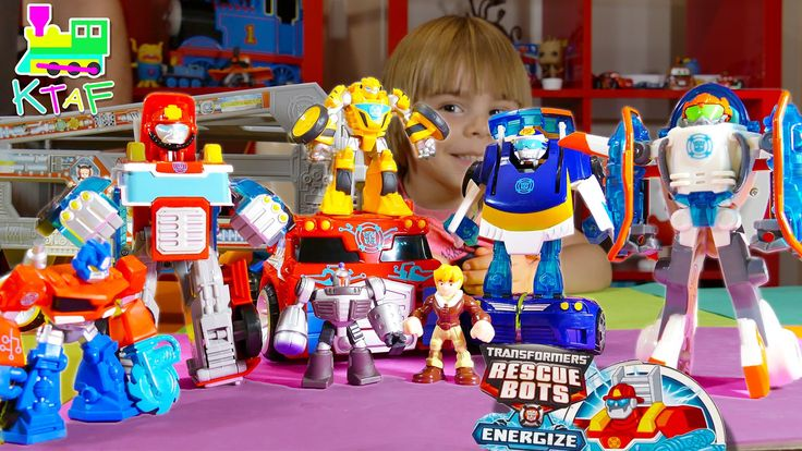 Rescue Bots Toys Special - Optimus Prime Rescue Trailer, Bumblebee, Heat...