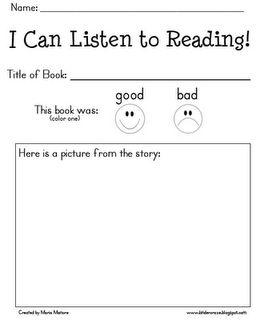 Listening Center: Daily Five, Kindergarten Listening Center, Kindergarten Reading, Book Review, Audio Lessons, Daily 5 Centers, Book Reports, Audio Books, Center Worksheets
