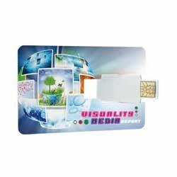 Memorias USB personalizadas en forma de tarjeta de crédito. Perfectas para llevarlas en la cartera y llevarla siempre encima. Disponible en diferentes tamaños de almacenaje.