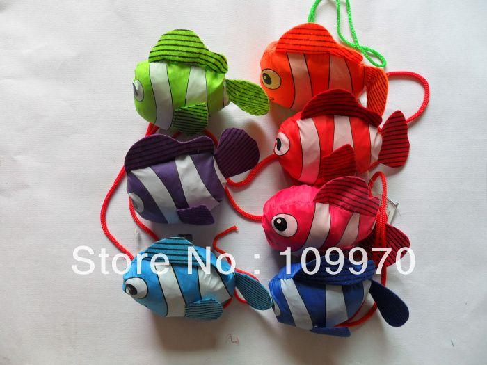 Тропические рыбы Экологически чистые Хозяйственная сумка, смешанные много цветов Eco эти многоразовые складная рукоятка сумка 200 шт. DHL/FDEX бесплатная доставка