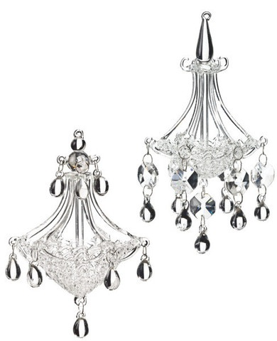 115 best gold silver cream black christmas decorations images 6 glass chandeleir ornaments these glass chandelier ornaments are 6 inches in length mozeypictures Image collections