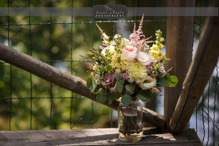 Beautiful wedding bouquet by Jane Marshal Flowers in Huntsville.