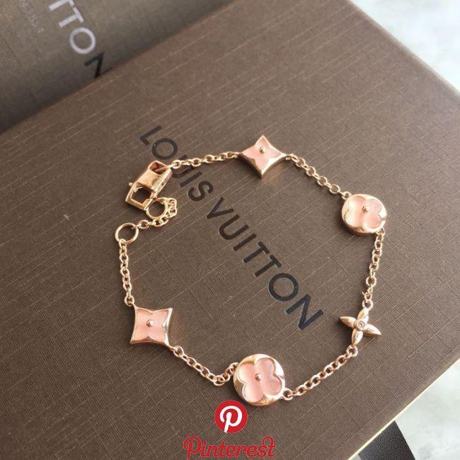 Louis Vuitton lv woman chains bracelet pink Louis Vuitton lv woman chains brac…
