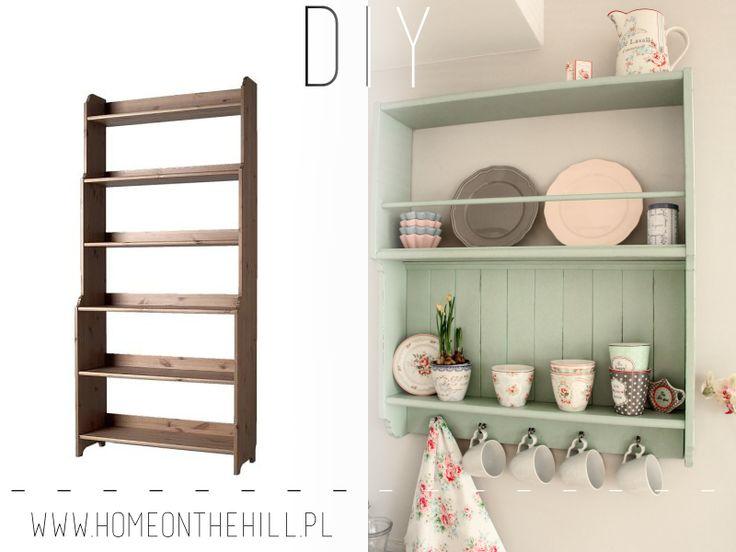 DIY półka kuchenna  #DIY #IKEA #metamorfozaikea #shelf