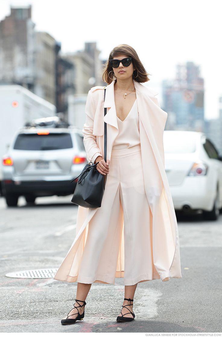 Blush pink works in any season. Seen on Caroline's Mode.