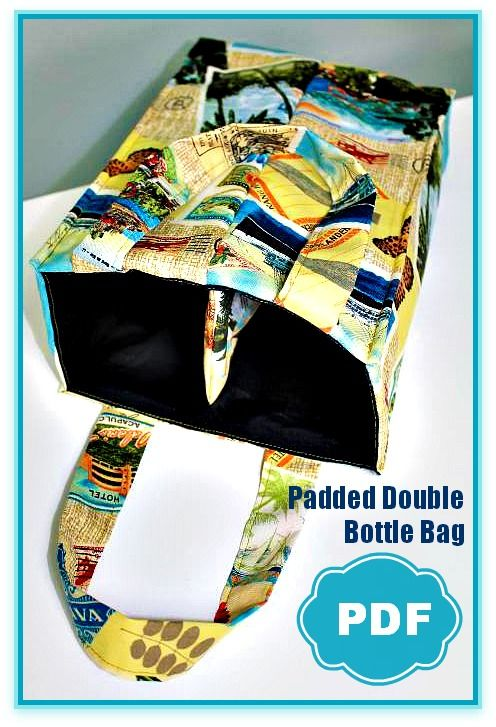 Padded Double Bottle Tote by Berry Birdy + Threading Your Serger - Overlock Machine