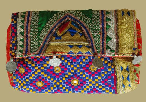 Vintage Kutch Embroidery Clutch With Coins (Design 25) – Desically Ethnic