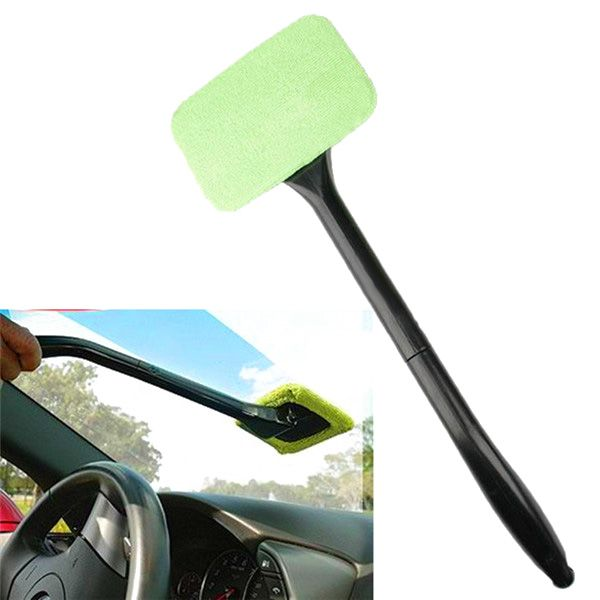 Car Windshield Glass Cleaner Wiper Handle Wand Microfiber Cloth