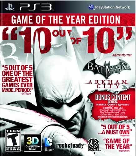 Batman Arkham City Game of the Year Edition - PS3 Game