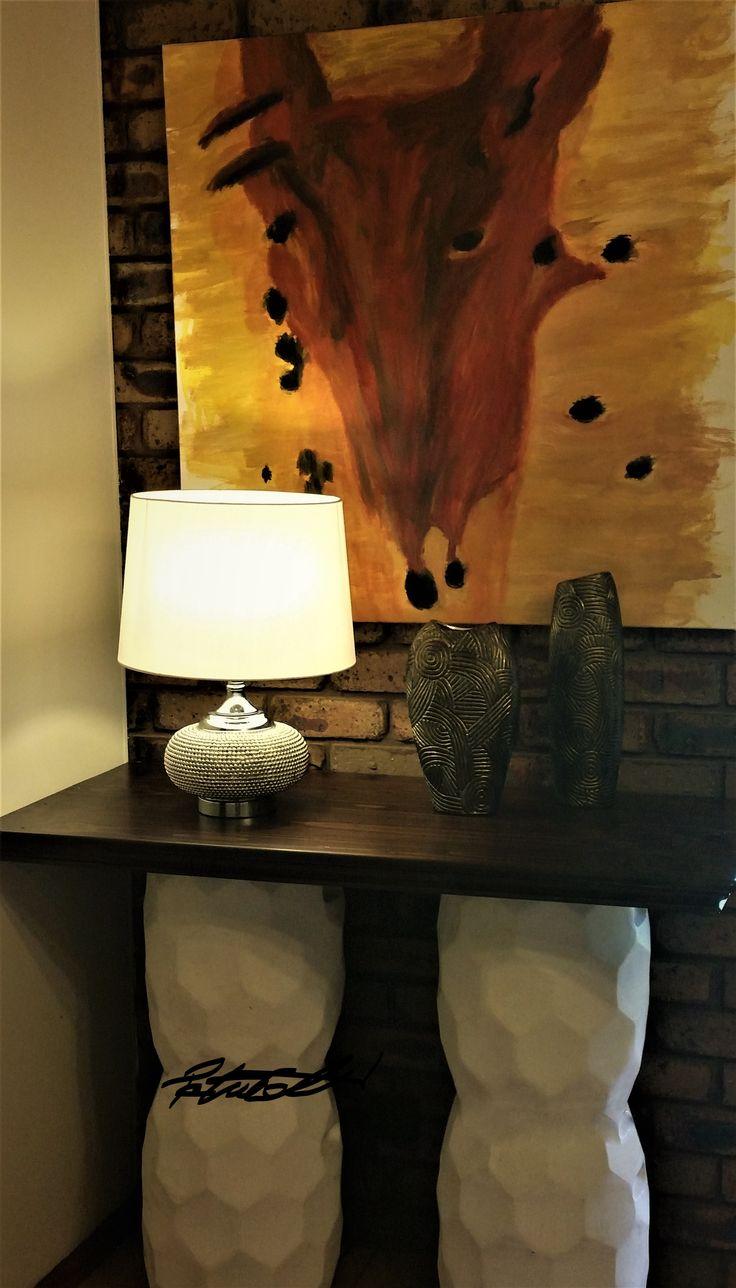 Vogue Corners,  Sideboard design concept Peta Collett,  painting Peta Collett
