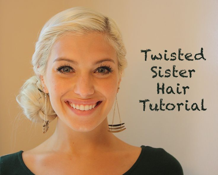 Twisted Sister hair tutorial. Even works great with short hair!