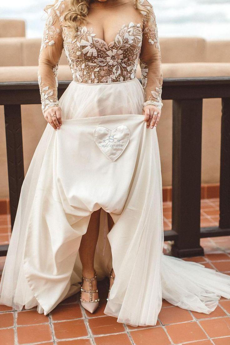 Charming Newest Beading Gorgeous Wedding Dress, Long Sleeves Unique Design Bridal Dress, PD0434 15