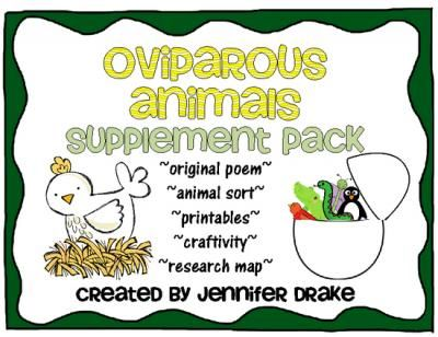 Oviparous Animals Supplement Pack ~CC Aligned~ from Jennifer Drake on TeachersNotebook.com -  (25 pages)  - If you are teaching your students about oviparous animals, this supplement pack will make it more 'egg'citing!