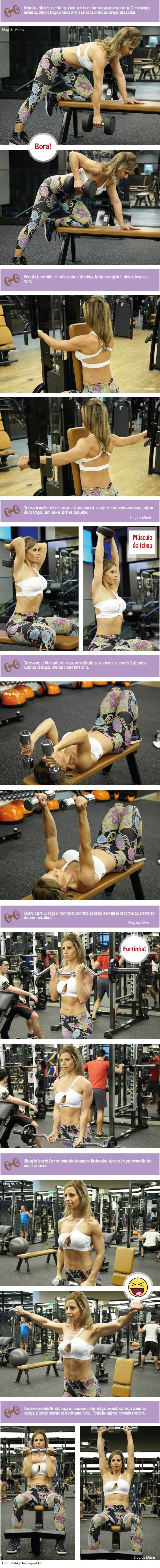 Vamos fazer exercício!  Blog da Mimis #exercício #treino #musculação…