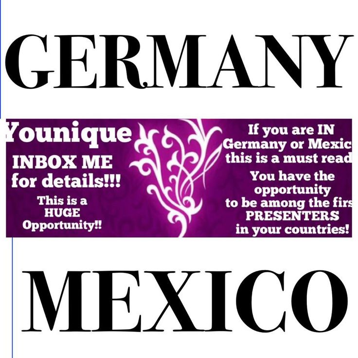 If you are IN Germany or Mexico..or have connections there...you do NOT want to miss this! Be the first to sign up or to sign people up as presenters in these countries! IMAGINE if you were among the first AVON or Mary Kay reps here?!!? DONT MISS out!! Contact me. #germany #mexico #makeup #instamakeup #cosmetic #cosmetics #happy #fashion #eyeshadow #lipstick #gloss #mascara #palettes #eyeliner #lip #lips #concealer #foundation #powder #eyes #eyebrows #lashes #lash  primers #beauty #beautiful