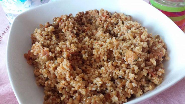spicy lentils and bulgur