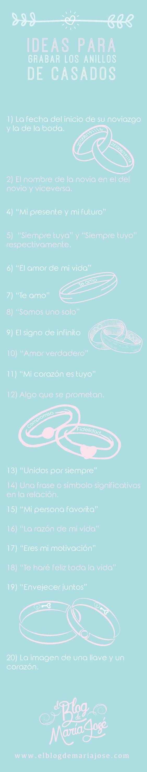 Ideas para grabar los anillos de casados
