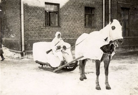 The supply system of the Finnish Army was almost exclusively based on horse-drawn supply convoys since mobility in roadless terrain was deemed vitally important - not that Finland in the 1920's could have afforted even a modest motorization of it´s forces. Should mobilization of the Field Army be needed, the law forced the agrarian nation to give up most of the civilian horses for the use of the Army.