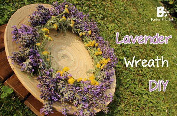 how to make a lavender wreath - Buntwerkstatt.at