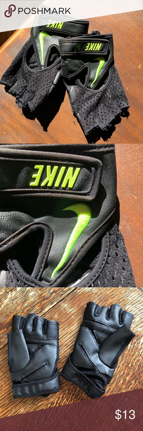 NIKE workout gloves Worn once, great condition! NIKE workout gloves. Super cute! Nike Other