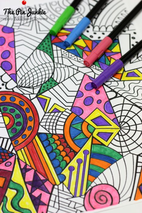 Coloring for grown-ups.  Join the adult coloring craze.  Just because you're a grown up doesn't mean you can't enjoy this fun activity.