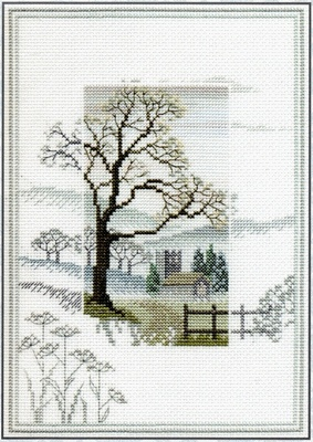 Derwentwater Designs - Cross Stitch Kit - Misty Mornings - Winter Tree