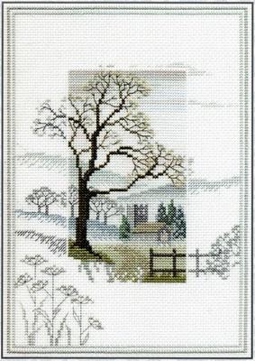 Derwentwater Designs - Cross Stitch Kit - Misty Mornings - Winter Tree