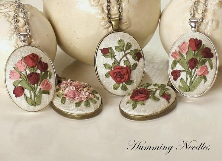 509 Best Ribbon Embroidery Images On Pinterest