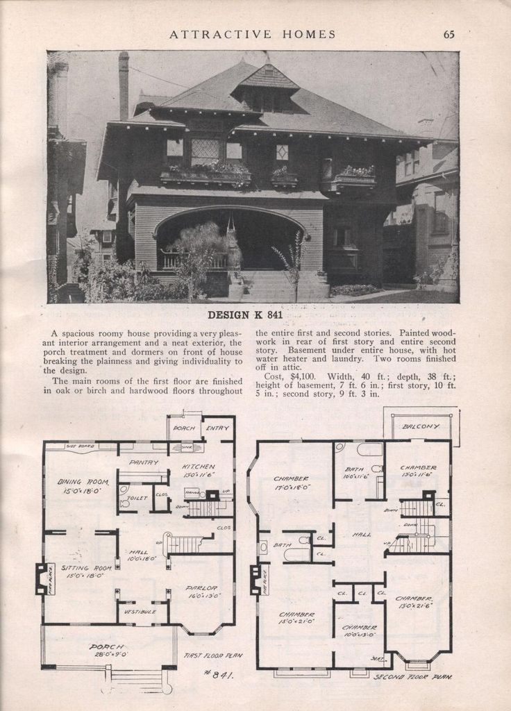 Design K 841 From Attractive Homes By Max L Keith Published 1912 192 P Shingle Style House Plan
