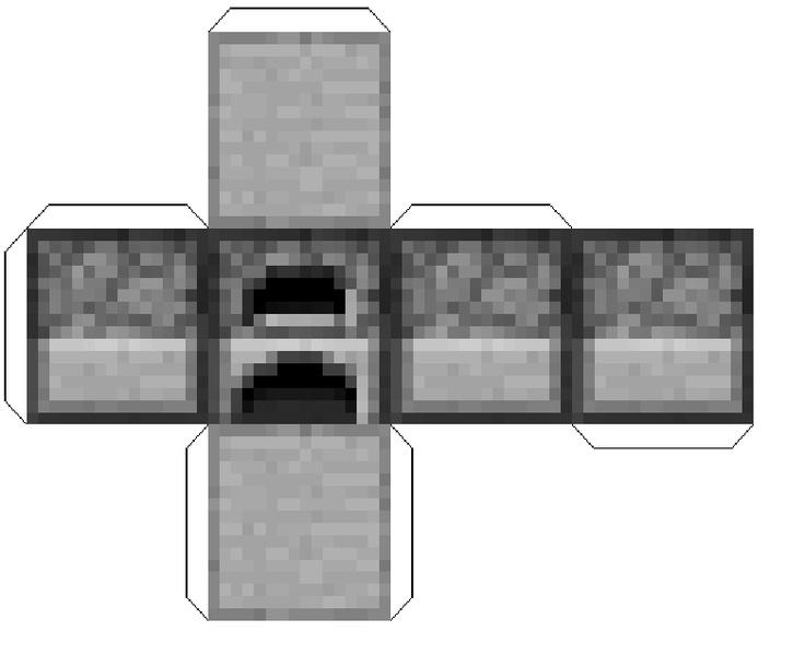 Minecraft Diamond Template Paper Minecraft Furnac...