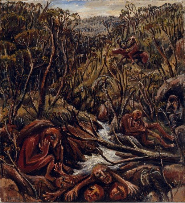 The hunter II (The flood), (incorrectly inscribed 1945 (1944) by Arthur Boyd :: The Collection :: Art Gallery NSW