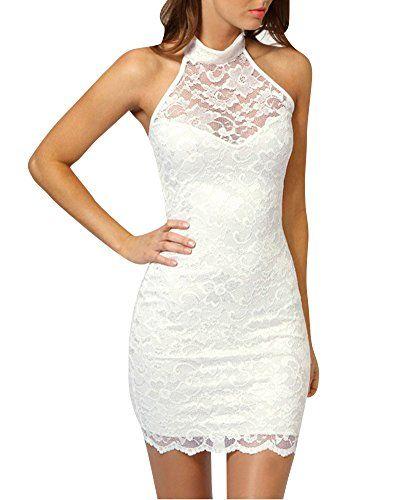 Vestido blanco de fiesta para mujer