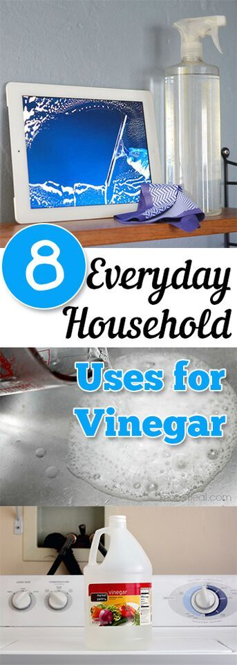 8 Ways to use vinegar as a natural cleaning agent around your home. Cleaning, cleaning tips, home cleaning, cleaning hacks, bathroom, home décor, organization, home organization, DIY, cleaning, do it yourself.