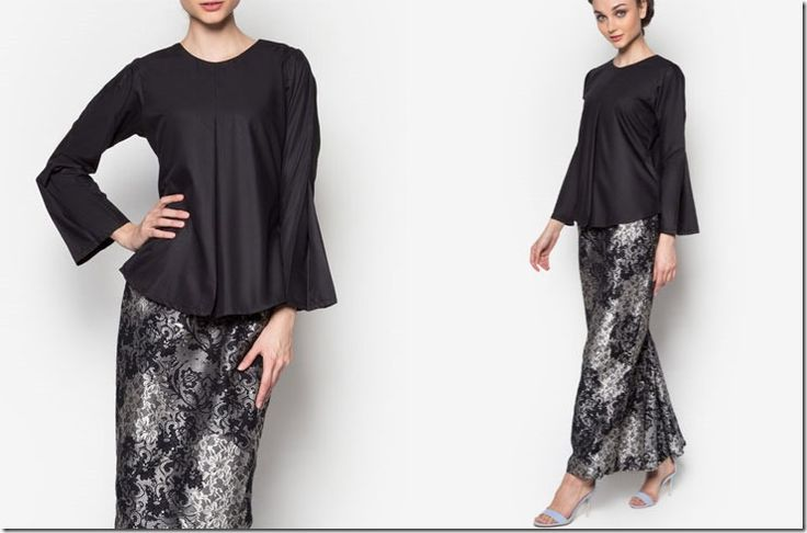 Songket Style Modern Kurung Ideas For Raya 2016 / black-songket-inspired-kurung