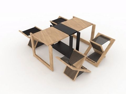Foldable Side Table  / TEN Muebles