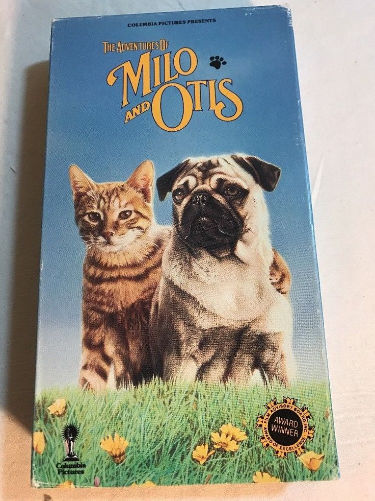 The Adventures Of Milo And Otis (VHS Movie) (1989) cats dogs pugs
