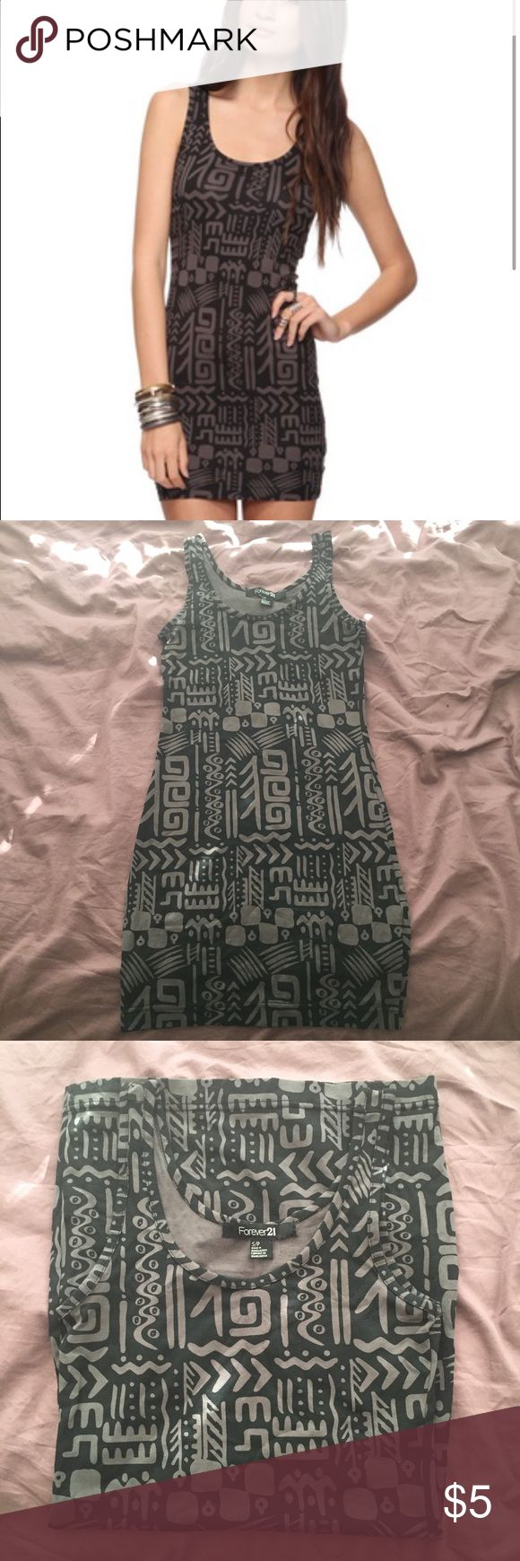 **FRIYAY SALE**Aztec Bodycon Dress Aztec Print Bodycon dress from Forever 21. Scoop neck, sleeveless and in excellent condition! Forever 21 Dresses Mini