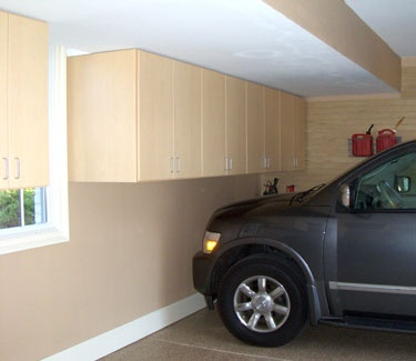 upper cabinets are perfect for tight spaces by garage