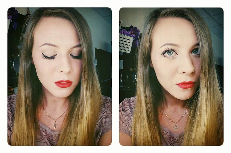 Красные губы и черная подводка!!! Red lips and eyeliner. Classy and glamorous. I used mac russian red for my lips #redlipstick #lips #makeup #eyeliner #macrussianred