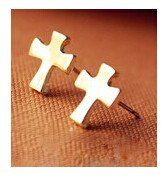 E773   Fashion Wholesales 2014 New Hot Cheap Cross Stud Earrings for Girls Jewelry Accessories
