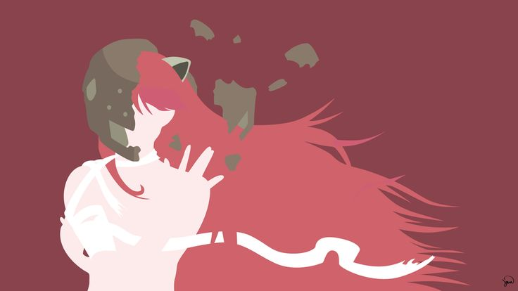 :3 Lucy (Elfen Lied) Minimalist Wallpaper by greenmapple17.deviantart.com