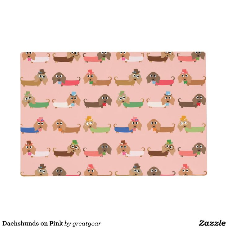 Dachshunds on Pink Placemat
