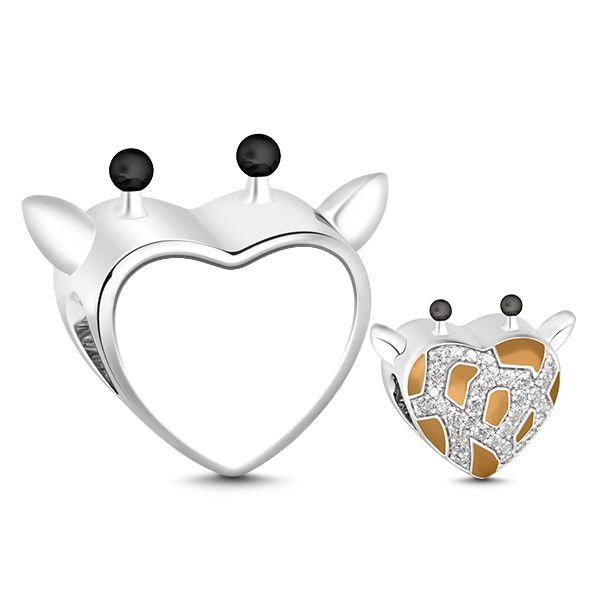 Giraffe Heart Photo Charm