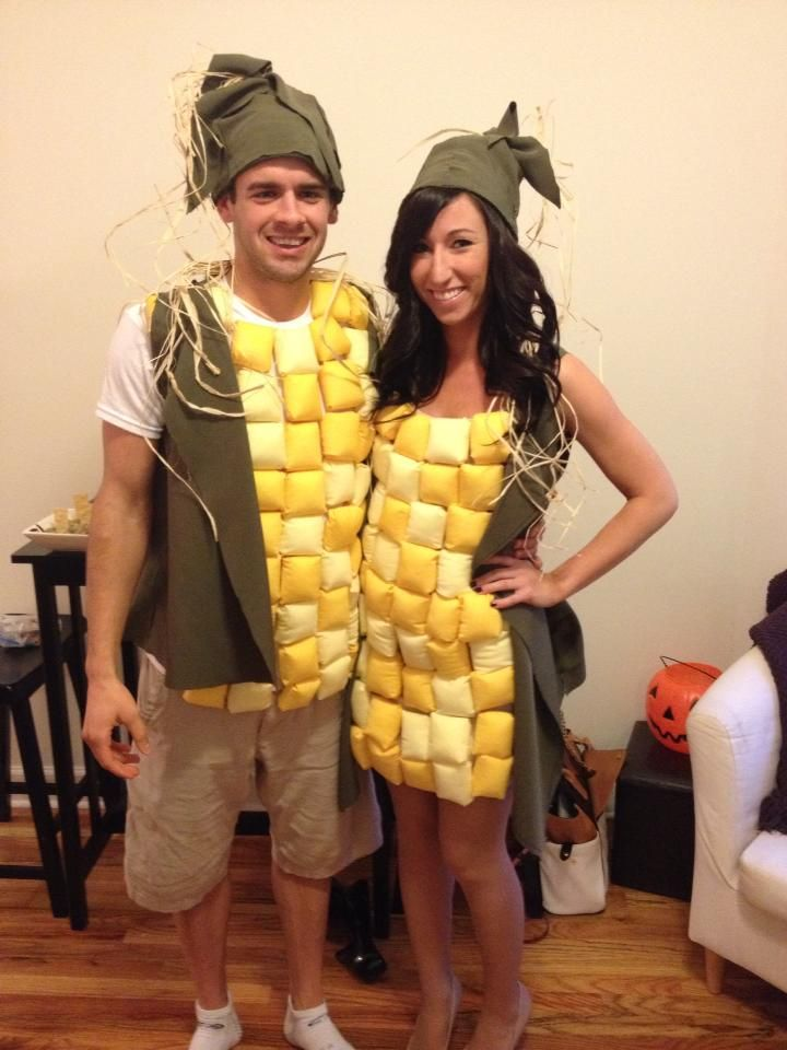 Corn on the Cob, Couples Costume DIY, Halloween DIY Costumes for Couples, Ear of Corn, Halloween!