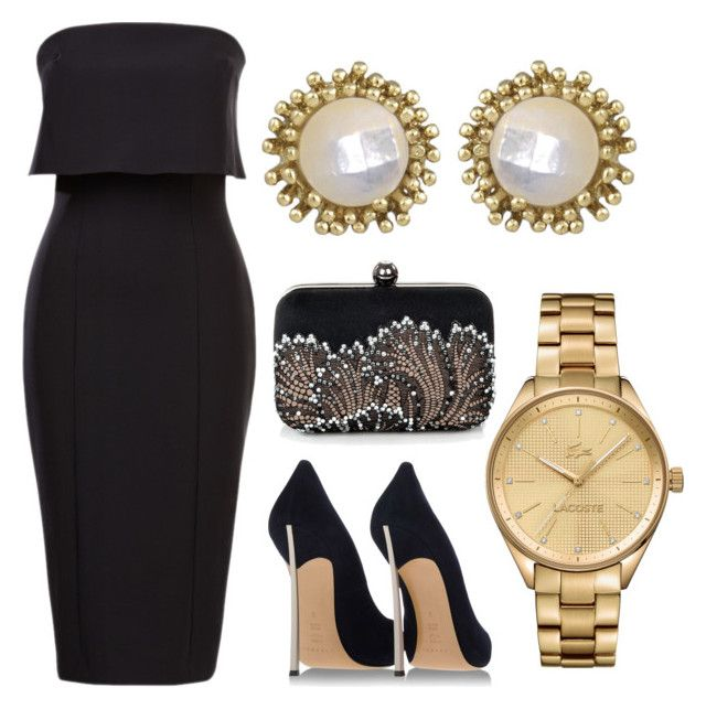 Untitled #88 by rodoulla97 on Polyvore featuring polyvore fashion style Casadei Lacoste Kendra Scott clothing