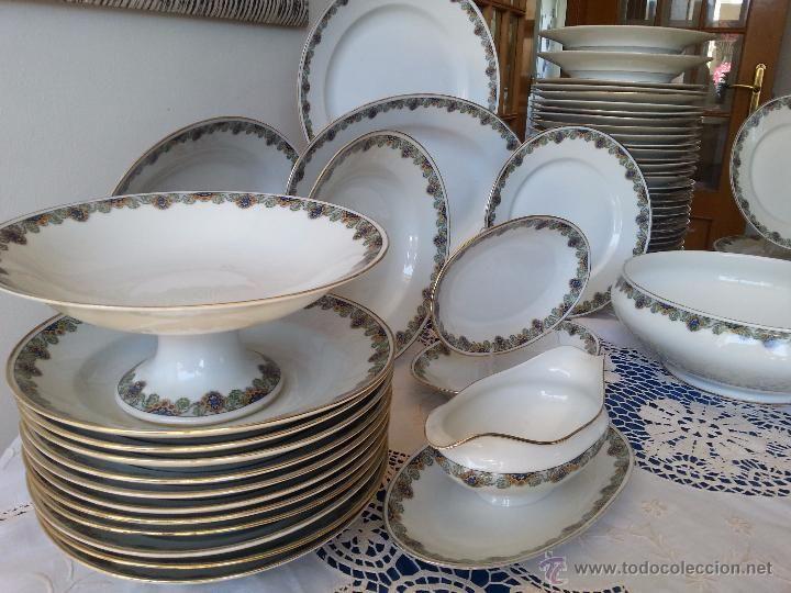 Vajilla de porcelana de limoges antigua 62 piezas foto for Vajilla porcelana