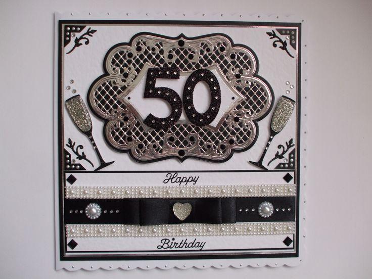 Handmade Commission 50th Birthday Card