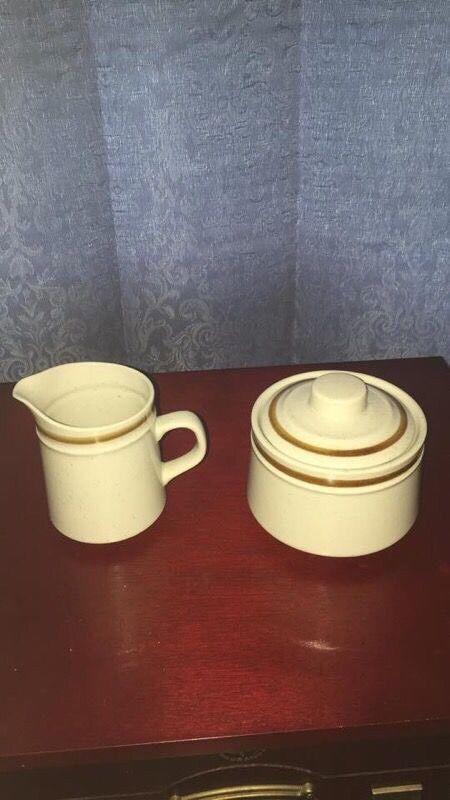 Vintage Old Brook Collections sugar bowl and creamer  | eBay