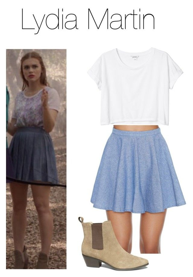 """Lydia Martin Style (Teen Wolf)"" by aestheticxstyles ❤ liked on Polyvore featuring Nasty Gal, Monki and Steve Madden"